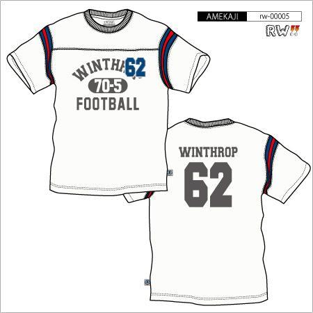 アメカジ:フットボールTシャツ(WINTHROP)