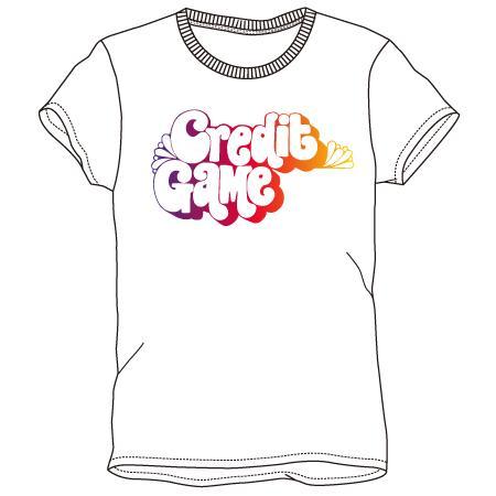 レディースプリントTシャツ:CREDIT GAME