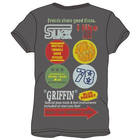 レディースプリントTシャツ:griffin