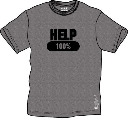 プリントTシャツ:HELP