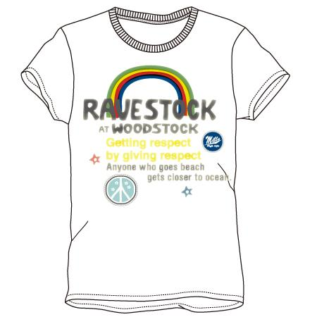 レディースプリントTシャツ:rainbow