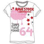レディースプリントTシャツ:ravestock