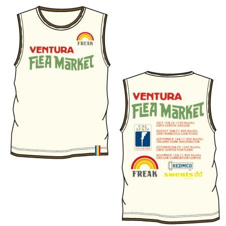 メッセージプリントTシャツ-04:FLEA MARKET