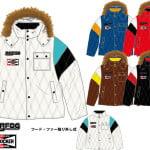 袖切替中綿フード付きジャケット