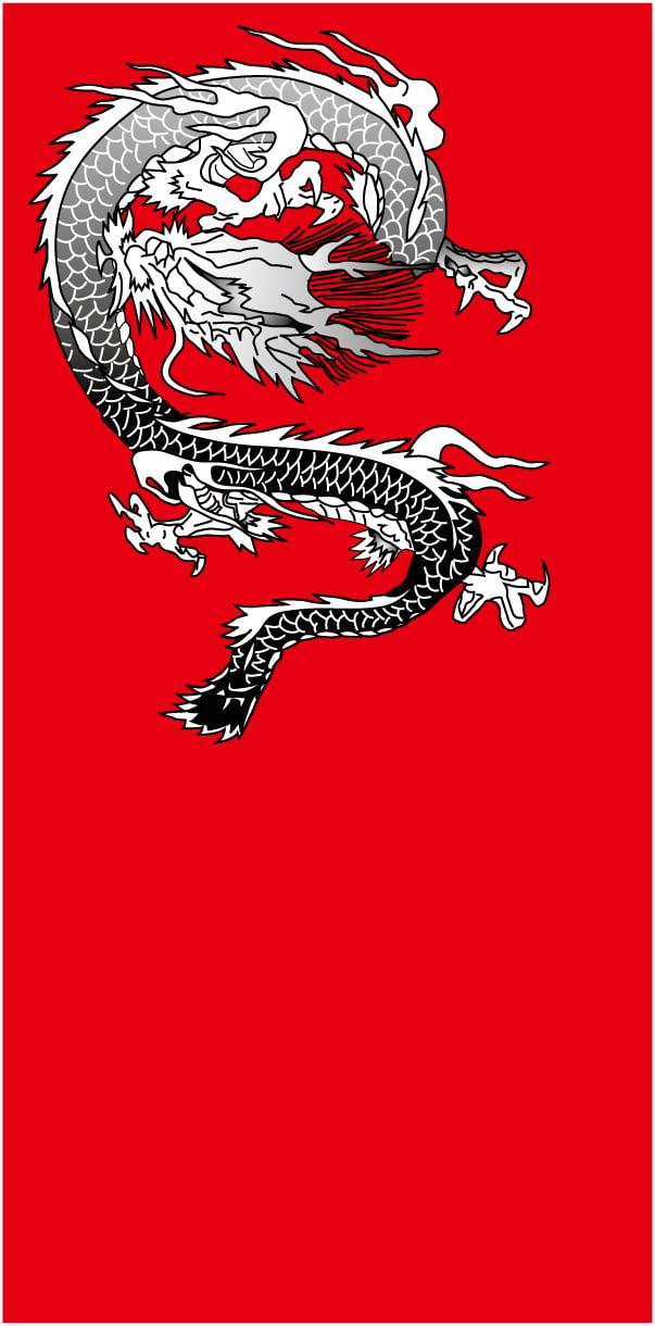 和柄の龍のイラスト