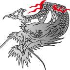 和柄の龍のイラスト素材