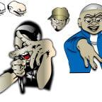 HIP HOP風のキャラクター