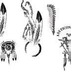 ネイティブアメリカンの羽根のイラスト