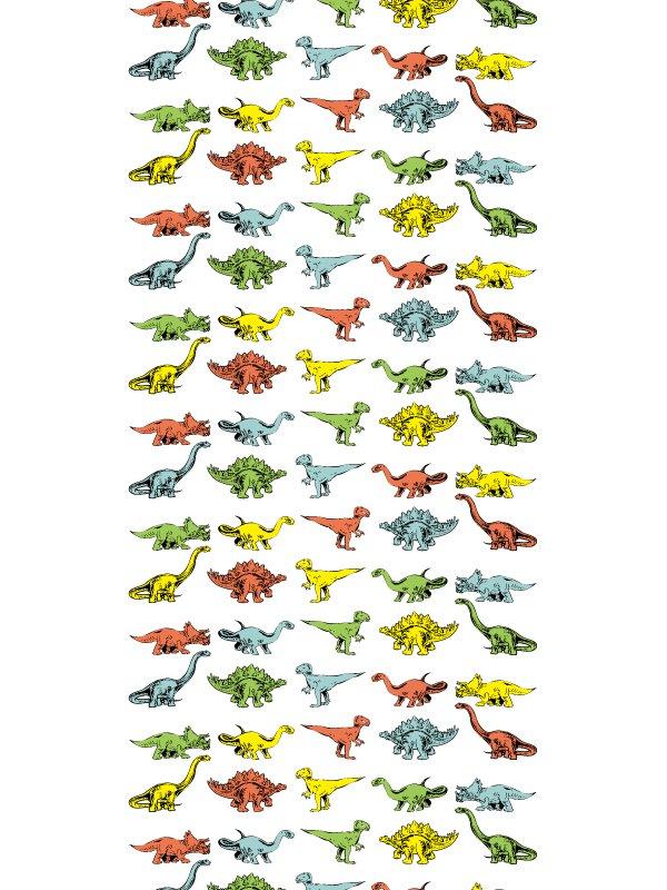 恐竜のシルエットのステッチ総柄イラスト