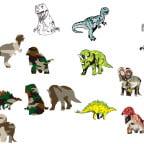 恐竜のイラスト