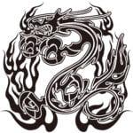 トライバルの龍・ドラゴン-006柄