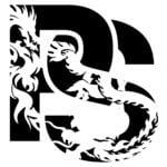 型抜きしたトライバルの龍のイラスト素材