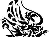 トライバルの龍のイラスト
