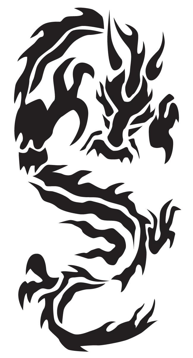 トライバルの和柄龍のイラスト