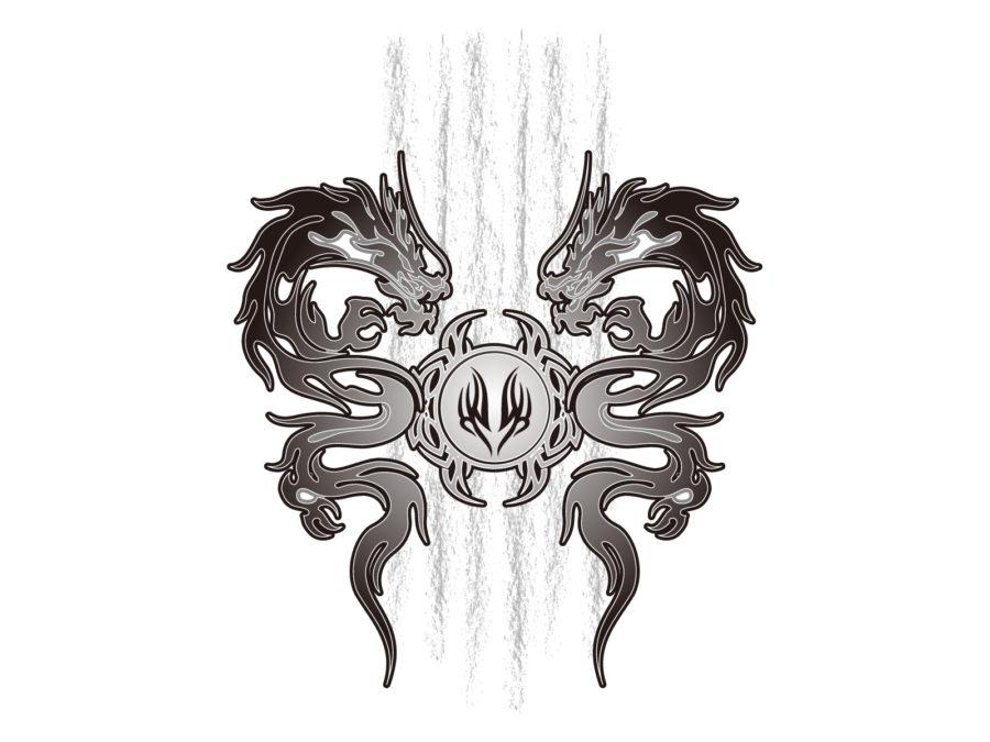 トライバル柄の龍のイラスト素材 - 【トライバル龍-001】