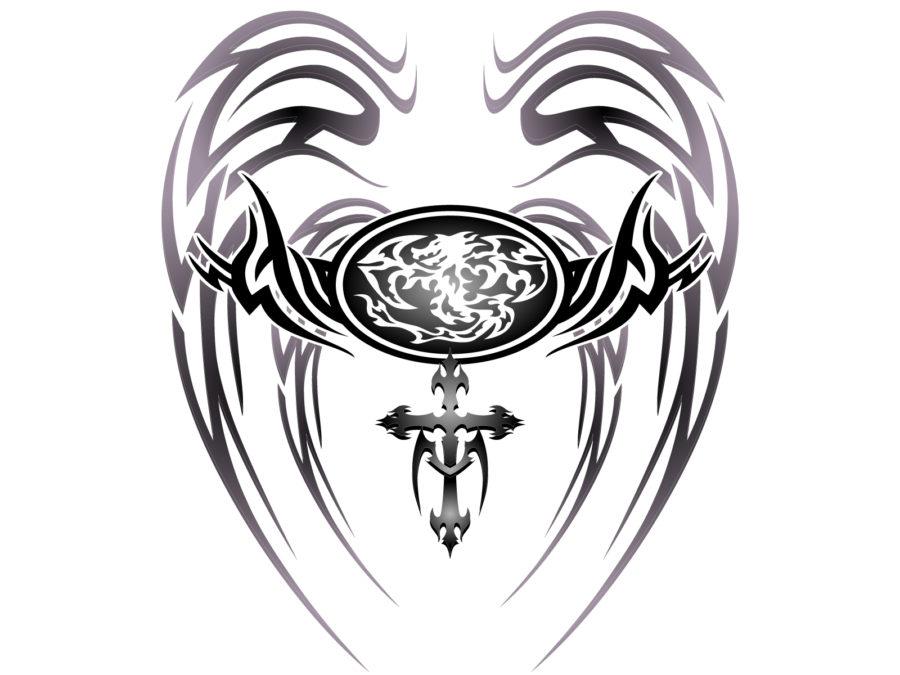 トライバル柄の龍のイラスト素材 - 【トライバル龍-007】